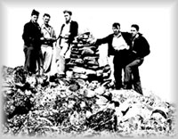 Quartz 'Boys' on summit of Two Sisters Mountain, wpH714